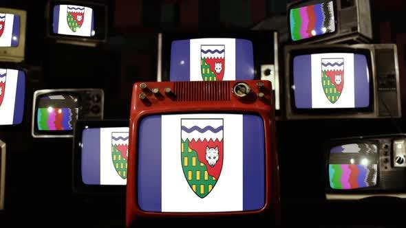 Thumbnail for Flag Of The Northwest Territories of Canada, and Retro TVs.