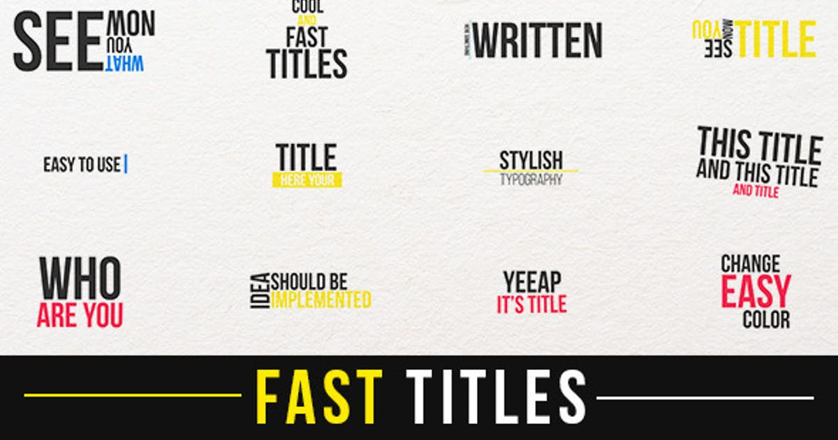 Download Fast Titles by aniom