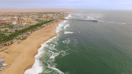 Thumbnail for Namibia. Ocean. Sunset. Flight
