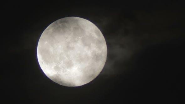 Thumbnail for Vollmond in der Nacht Himmel über die Bäume