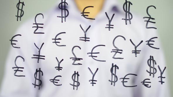 Thumbnail for Currency Signs on Transparent Screen
