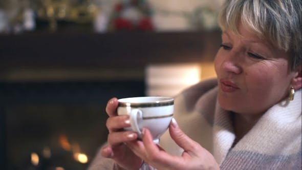 Thumbnail for Beautiful Mature Woman Drinking Coffee