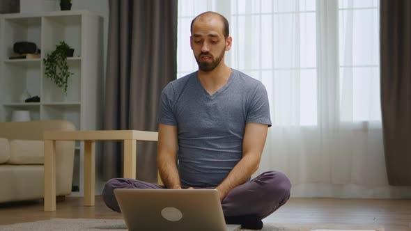 Upset Man in a Video Call During Coronavirus