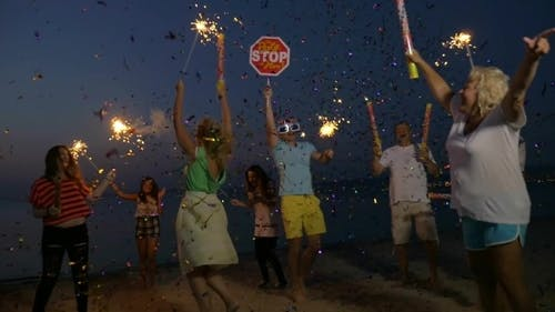 New Year Party On The Beach