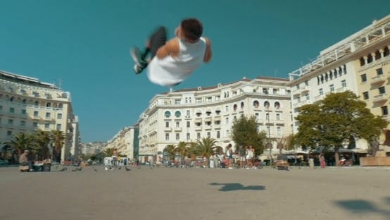 Thumbnail for Acrobatic Performance In The Street