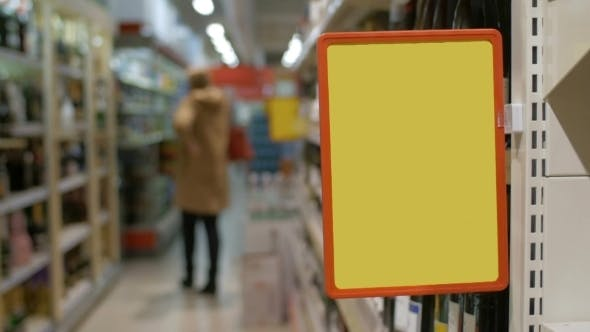 Thumbnail for Empty Advertising Board In The Supermarket