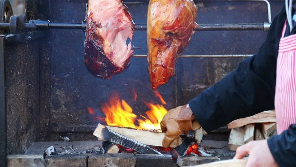 Thumbnail for Roasting Meat on a Spit