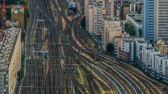 Thumbnail for Railroad Tracks at Europe Major Train Station, Transport Infrastructure, Trip