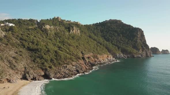Thumbnail for Alanya Castle. Alanya Cityscape. Cleopatra's Beach
