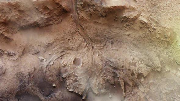 Jezero Crater on Mars Surface.