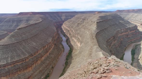 Thumbnail for Breathtaking Flight Over the Canyon of Colorado River in Grand Canyon National Park