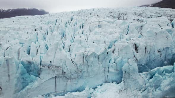 Aerial Scenic View of Ice Glaciers Iceland