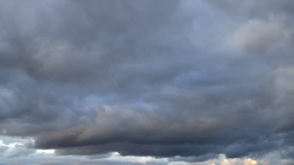 Thumbnail for View of  dramatic rain clouds, weather change.