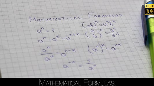 Thumbnail for Mathematical Formulas
