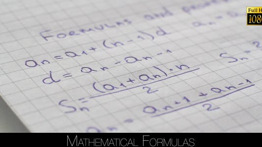 Thumbnail for Mathematical Formulas 2