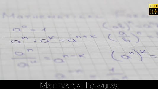 Thumbnail for Mathematical Formulas 3