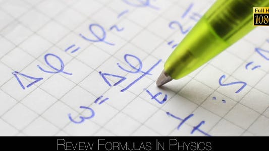 Thumbnail for Review Formulas In Physics