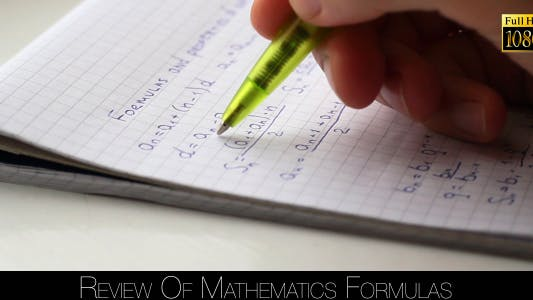 Thumbnail for Review Of Mathematics Formulas 3