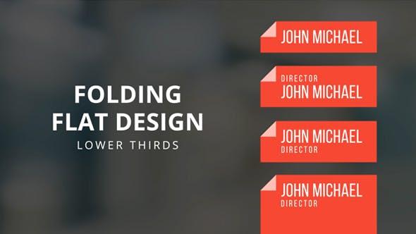 Folding Flat Design Lower Thirds Template