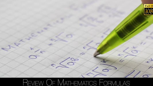 Thumbnail for Review Of Mathematics Formulas 5