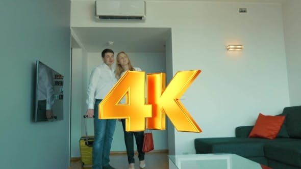 Cover Image for Young Couple Getting Excited With New Apartment