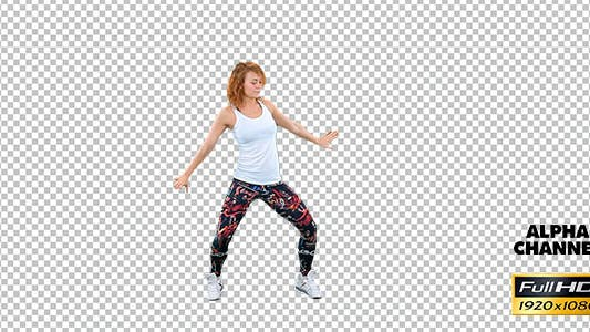 Thumbnail for Girl Dancing on a Transparent Background 3