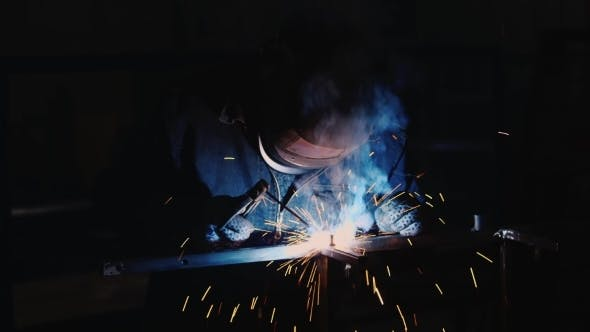 Thumbnail for Work At The Plant Welder At Work