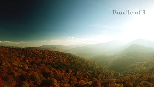 Thumbnail for Over Forest in Autumn Mountains