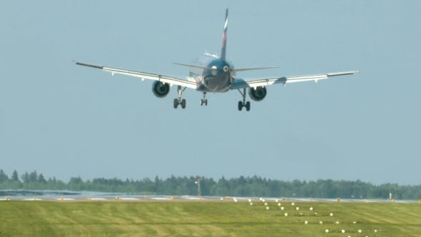 Thumbnail for Airplane Landing On Take-off Runway