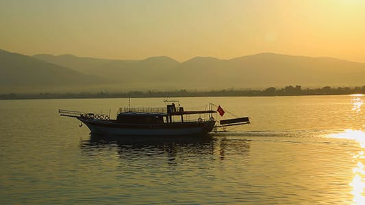 Cover Image for Boat At Sunset