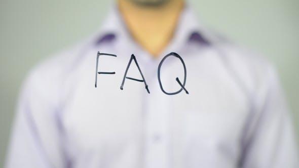 Thumbnail for FAQ, Man Writes on Transparent Screen