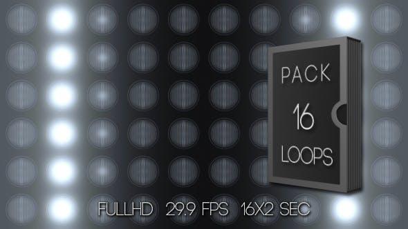 Panel Scheinwerfer Cool (16er-Pack)