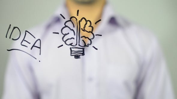 Thumbnail for Idea in Brain, Conceptual Illustration