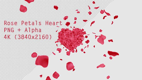 Thumbnail for Rose Petals Heart
