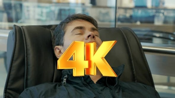 Thumbnail for Man Having a Rest In Massage Chair