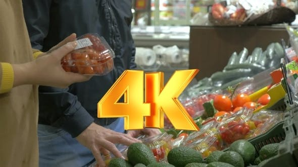 Thumbnail for Customers Choosing Tomatoes In The Supermarket