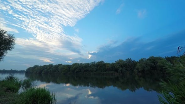 Thumbnail for Sunset Over the River.