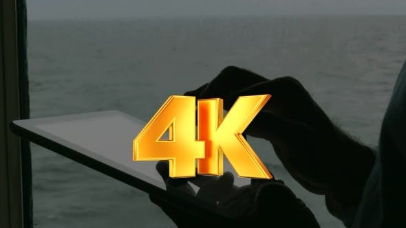 Thumbnail for Man Working With Tablet PC Aboard