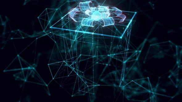 Gift Hologram Close Up 4k
