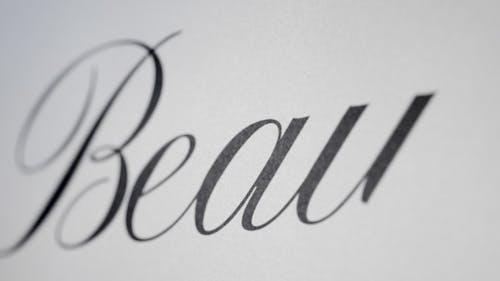Beauty - Animated Handwriting Typeface