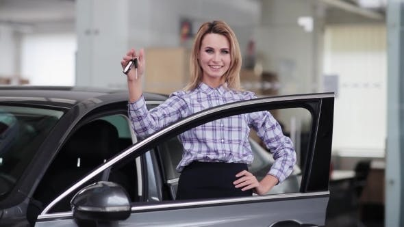 Thumbnail for Happy Girl Received The Keys Of a New Car
