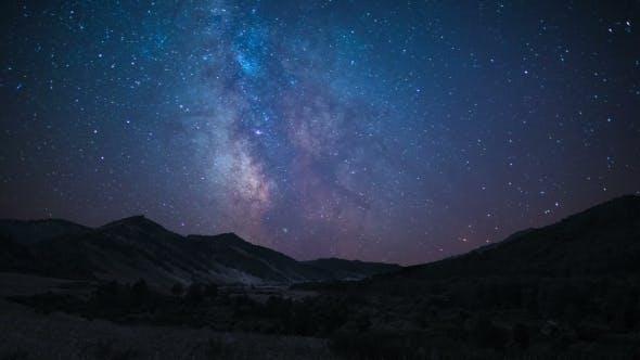 Milky Way At Mountain