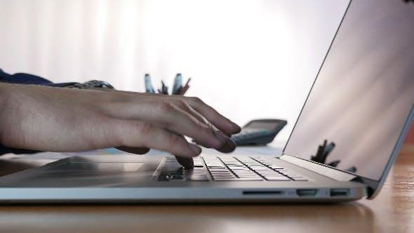 Keyboard Typing In Office