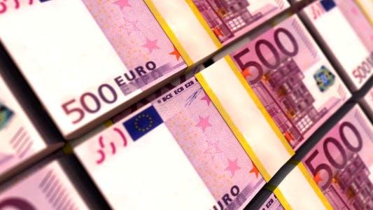 Thumbnail for 500 Euro Stacks. Money Background