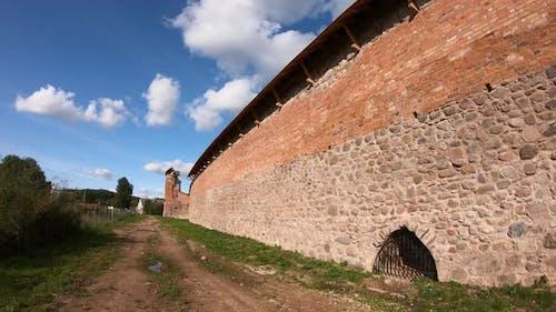 Krevsky castle, partially restored, Krevo, Belarus