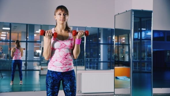 Athletic Woman In The Gym