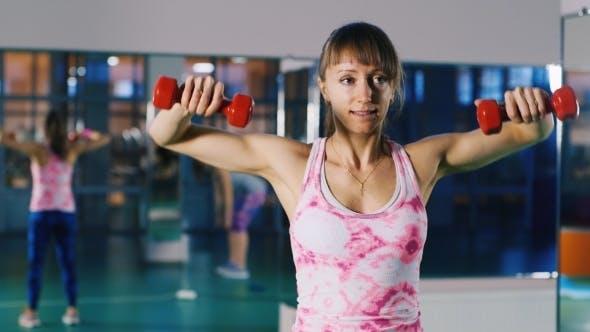 Athletic Woman Trains