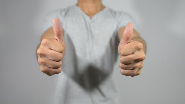 Thumbnail for Casual Young Man Hands Thumbs Up, Gesture