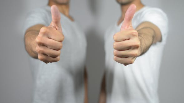 Thumbnail for Young Men Thumbs Up, Gesture
