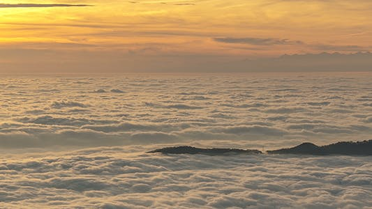 Thumbnail for Sunset above Sea of Clouds
